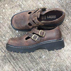 Vintage Skechers chunky maryjane platform shoes